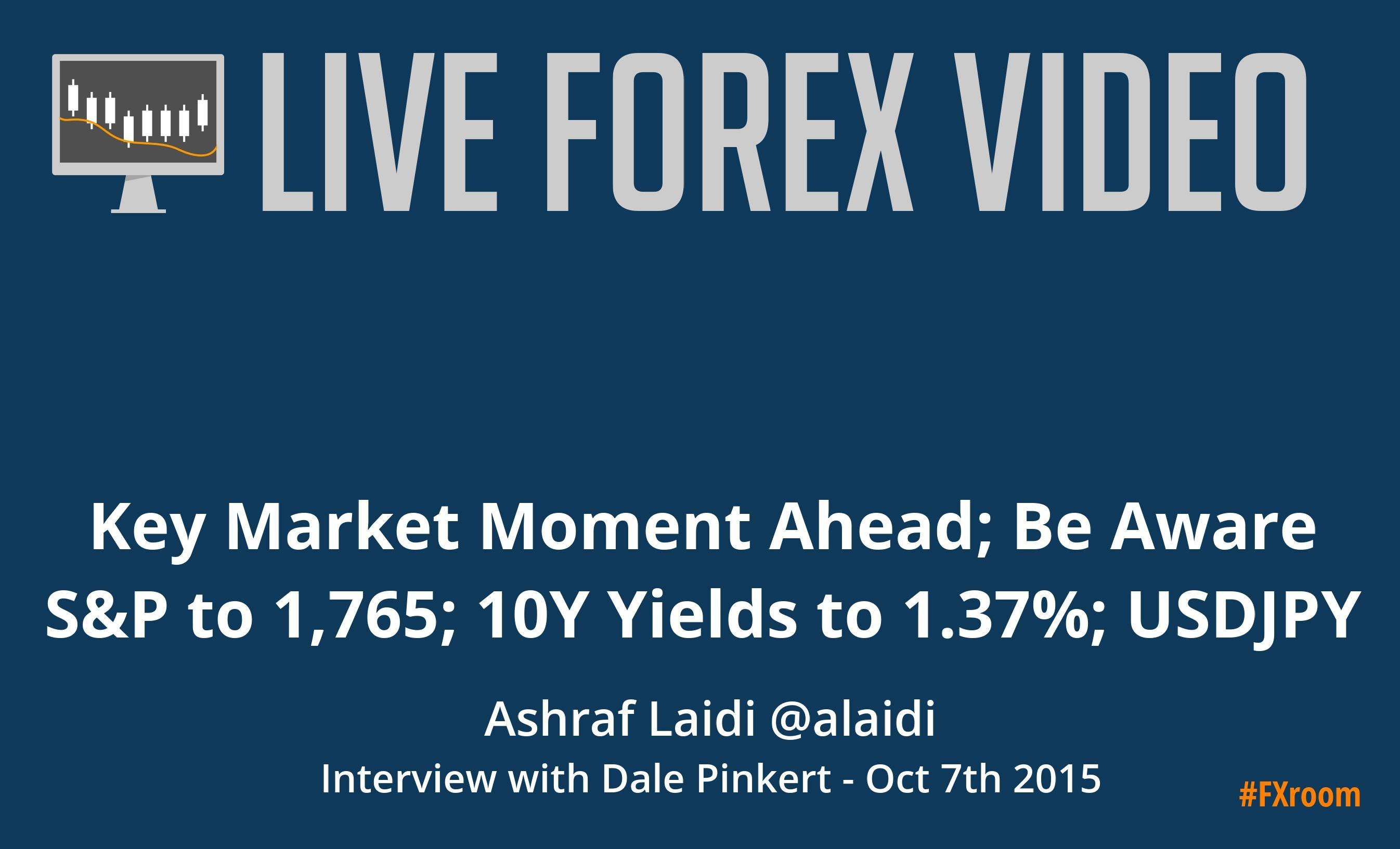 Ashraf Laidi @alaidi: 10-Y yields to 1.37%; S&P to 1,765; USDJPY to 115.00